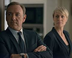 Kevin Spacey & Robin Wright as the ruthless Frank & Claire Underwood