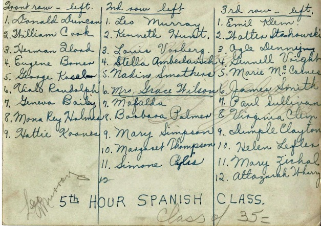 Spanish Class 1935 2
