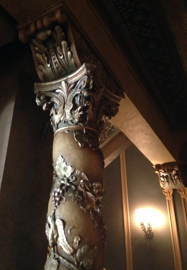The columns in the historic lobby are ornamental, not load-bearing.