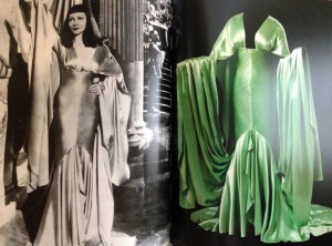 1934 Cleopatra. It was a black & white film but the dress is green.